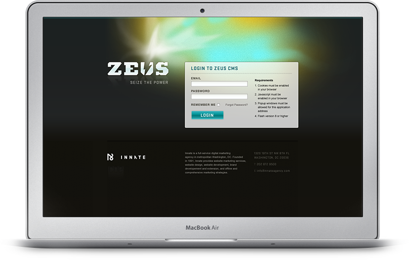 Zeus on Mac Air